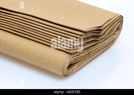 brown paper bags - Stock Photo