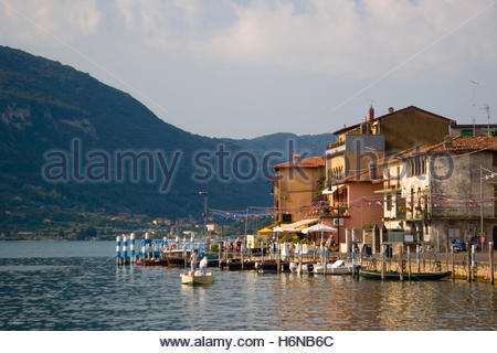 peschiera maraglio on monte isola - Stock Photo