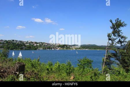 the sorpesee in june - Stock Photo