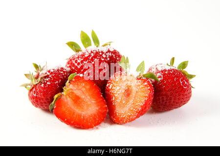 strawberry love - isolated strawberries - Stock Photo