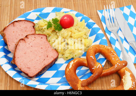 leberkaese brotzeit - Stock Photo