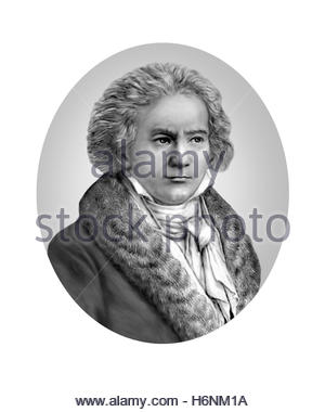 Ludwig van Beethoven, 1770 - 1827, Composer - Stock Photo