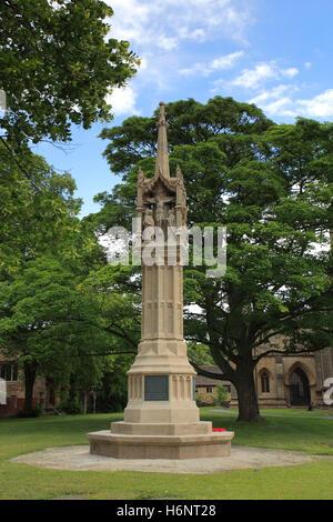 War memorial, St Wulfram parish church, Grantham town, Lincolnshire, England, UK - Stock Photo