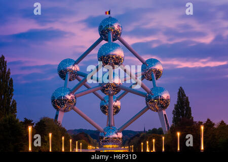 Atomium building in Brussels Belgium - Stock Photo