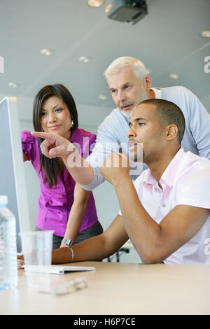 woman profile office indicate show men man teacher inside life exist existence living lives graphic blank european - Stock Photo