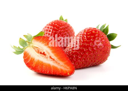 isolated progenies fruits fruit strawberry ruddiness red strawberries food aliment macro close-up macro admission - Stock Photo