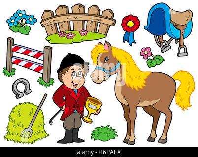 Jockey Horse Racing Cartoon Stock Photo Royalty Free