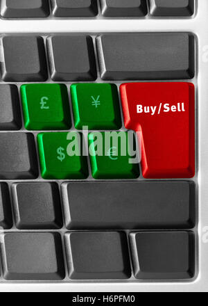 bank lending institution blue office laptop notebook computers computer dollar dollars keyboard PC sell model design - Stock Photo