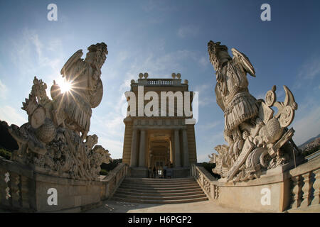 gloriette,schonbrunn palace,vienna - Stock Photo