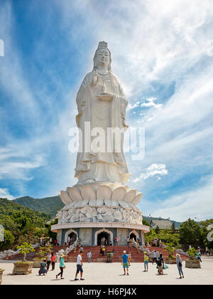 Giant Lady Buddha statue on Son Tra Peninsula. Da Nang, Vietnam. - Stock Photo
