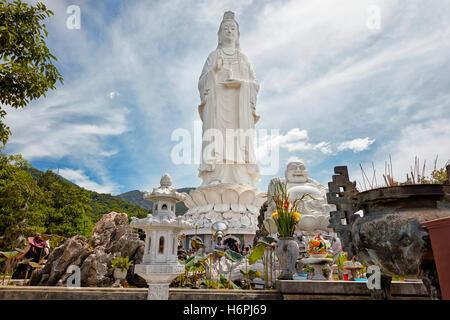 Lady Buddha statue on Son Tra Peninsula. Da Nang, Vietnam. - Stock Photo