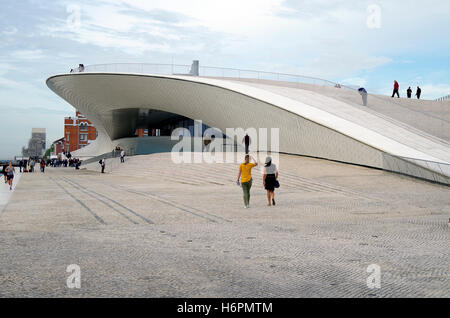MAAT, Lisbon, Portugal, new wing, architects AL_A - Stock Photo