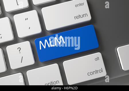 Keyboard with Blue Keypad - MLM. 3D. - Stock Photo