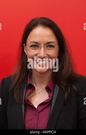Yasmin Fahimi, german politician, SPD, Frankfurt Bookfair 2014 - Stock Photo
