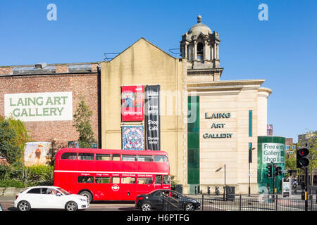 Laing Art Gallery in Newcastle upon Tyne, England. UK - Stock Photo