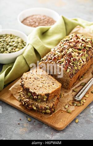 Healthy gluten free banana bread - Stock Photo