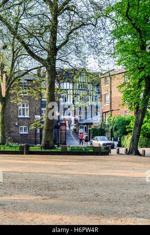 Pond Square in Highgate Village, London, UK - Stock Photo