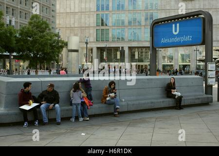 Berlin, Alexanderplatz. - Stock Photo