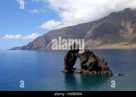 roque de la bonanza at el hierro - Stock Photo