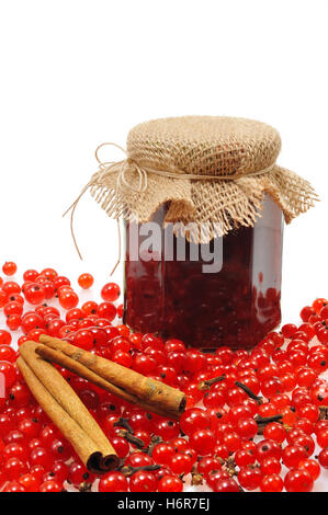 isolated berries jam berry currant red close still life glass chalice tumbler food aliment object health macro close - Stock Photo