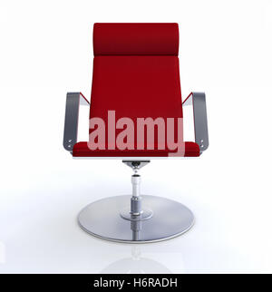 Designer chefsessel  designer chair silver red 2 Stock Photo, Royalty Free Image ...