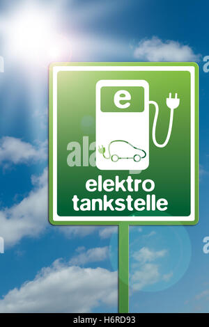 elektrotankstelle - Stock Photo