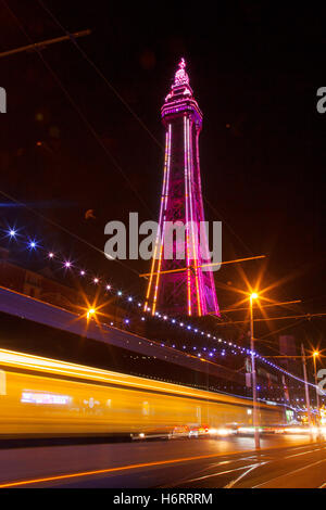 Blackpool, Lancashire, UK. 1st November, 2016. Lightpool Festival launches at home of Blackpool Illuminations. Blackpool - Stock Photo