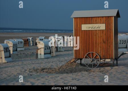 on spiekerooger beach - Stock Photo