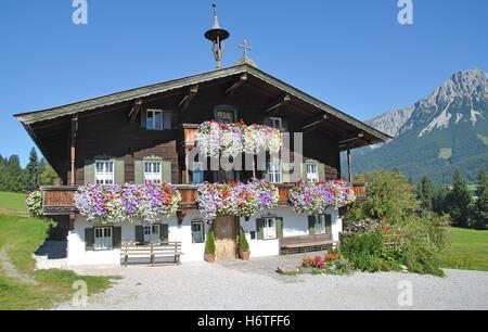 doctor, house, building, alps, austrians, tyrol, mountain, doctor, house, - Stock Photo