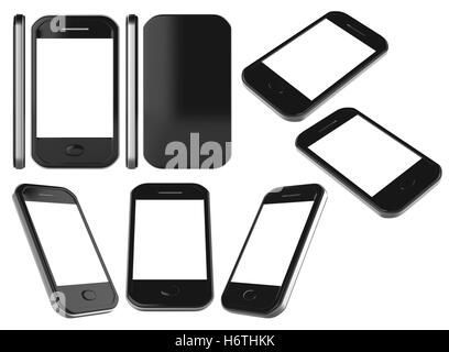 smartphone collection isolated - Stock Photo