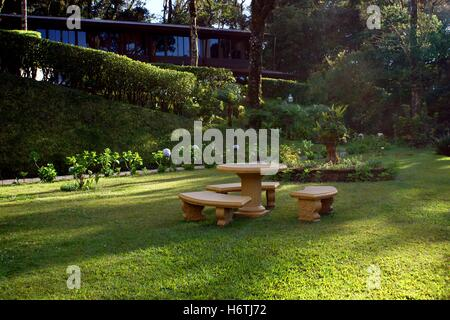 The territory of Trapp Family Lodge. Costa Rica, Province Puntarenas, Monteverde - Stock Photo