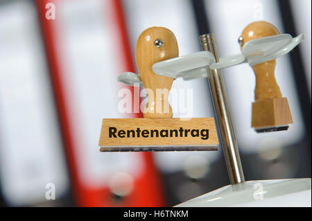 pension application - Stock Photo