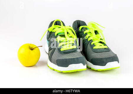 motion postponement moving movement walk go going walking sport sports fashion shoes sporty athletic wiry pithy - Stock Photo