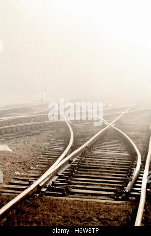 rail traffic - Stock Photo
