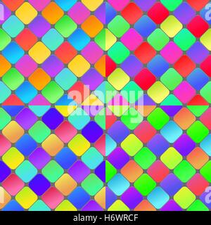 Colorful geometrical abstract seamless pattern background. Set of seamless vector patterns. - Stock Photo