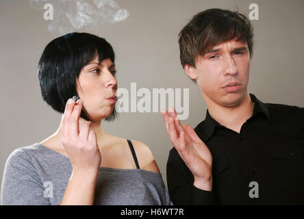 smoking vs. non smoking - Stock Photo