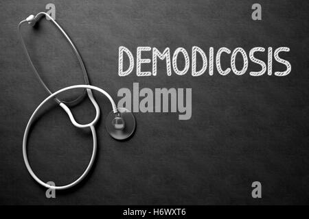 Chalkboard with Demodicosis. 3D Illustration. - Stock Photo