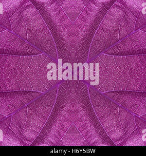Leaf seamless pattern lilac color - Stock Photo
