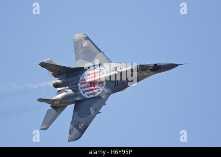 A Polish Air Force Mikoyan MiG-29A - Stock Photo