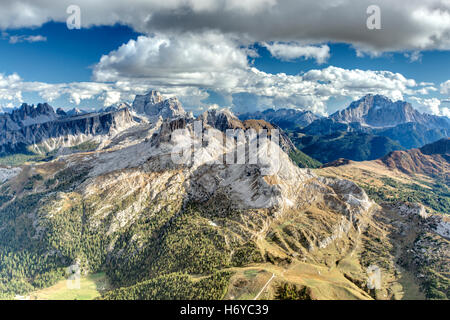 Italian Dolomites Near Cortina d'Ampezzo - Stock Photo