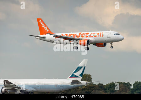 EasyJet  Airbus A320-214 G-EZTV Manchester Airport England. arrivals.departures. - Stock Photo