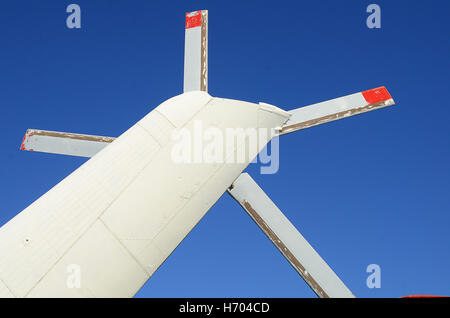 The blade (screw) of white helicopter - Stock Photo
