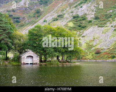 Boathouse in Low Wood, Wast Water, Wasdale, Lake District, Cumbria - Stock Photo