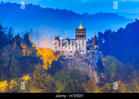 Brasov, Transylvania. Romania. The medieval Castle of Bran. - Stock Photo