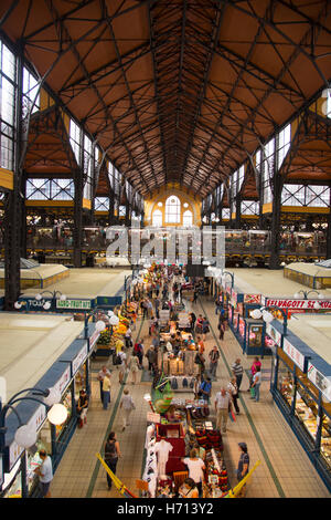 Grand market Hall Budapest Hungary - Stock Photo