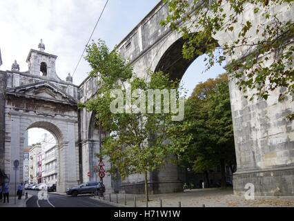Lisbon, Aguas Livres, aqueduct pure drinking water - Stock Photo