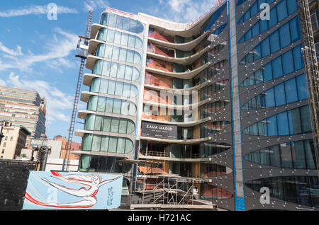 520 West 28th Street condominium residences designed by architect Zaha Hadid under construction in Chelsea, NYC - Stock Photo