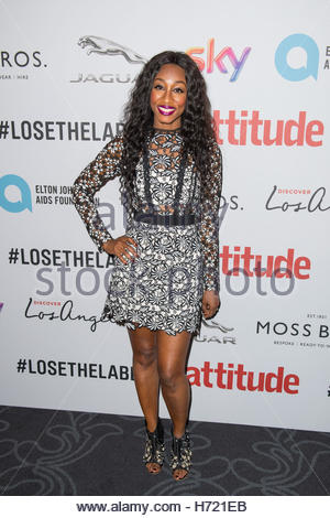 EDITORIAL USE ONLY File photo dated 10/10/16 of singer Beverley Knight who was forced to stop a performance at a - Stock Photo