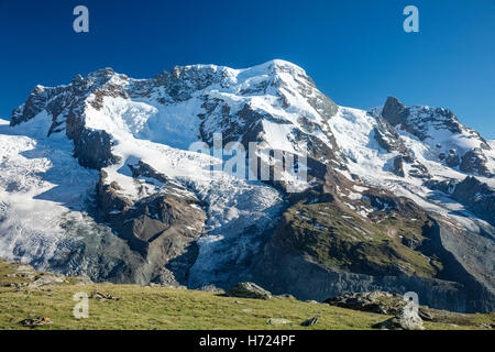 The Breithorn from Gornergrat, Zermatt, Pennine Alps, Valais, Switzerland. - Stock Photo