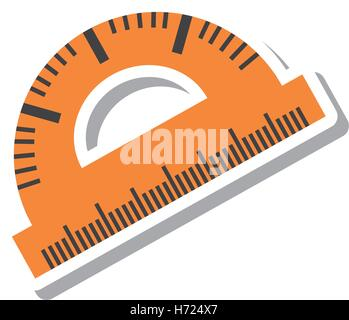 protractor rule isolated icon vector illustration design - Stock Photo